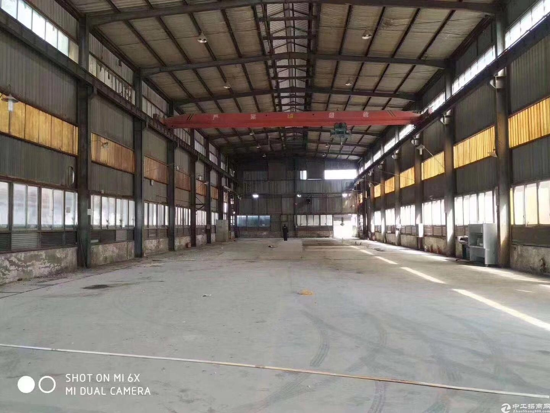 沙井107旁新出层高14米钢构1500平出租有五吨行车