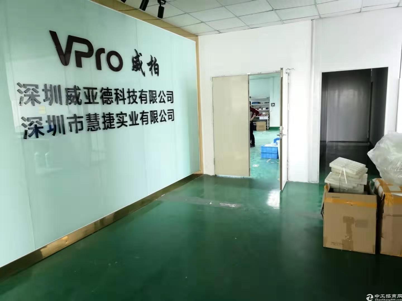 龙华大浪商业中心附近原房东厂房1500平带精装修不要转让费