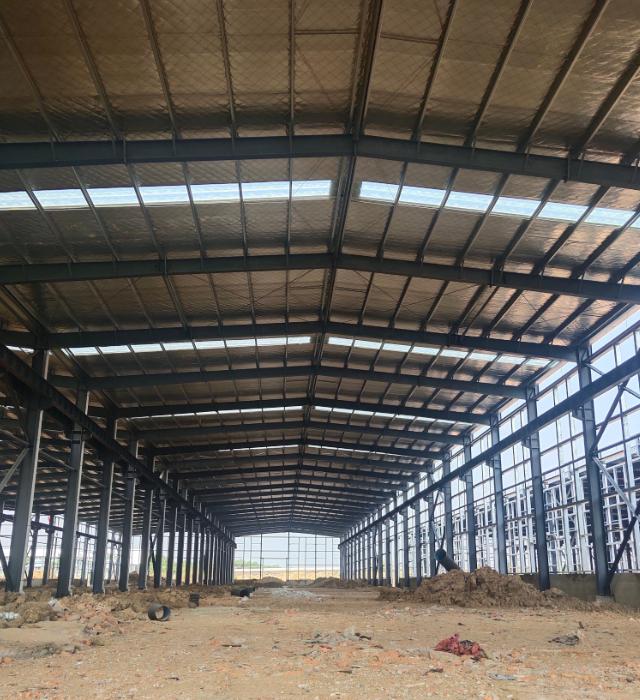 新密全新钢结构12米层高厂房,可办证-图2