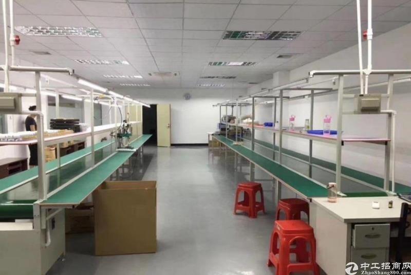 坪山六联新出原房东带装修750平厂房出租。