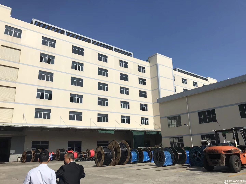 坪山高速出口附近新出原房东二楼带装修1000平厂房出租!