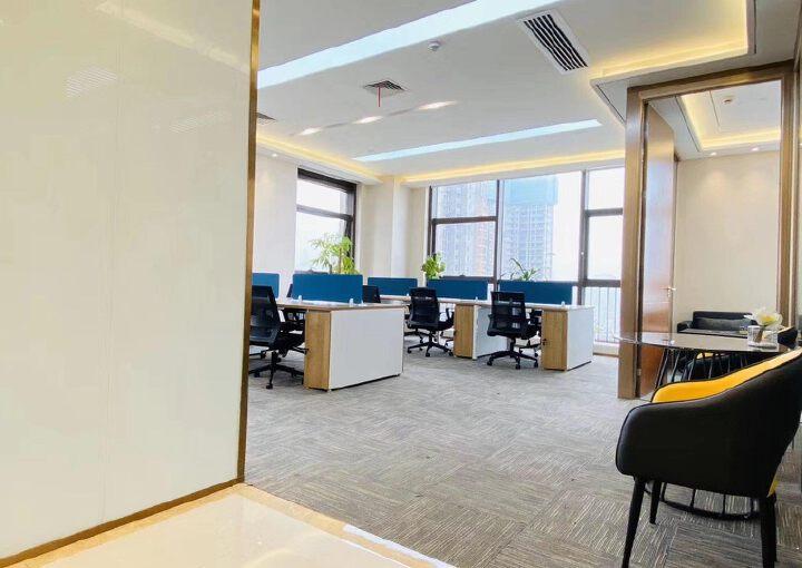龙岗3号线永湖地铁站200米带全套家精装修写字楼236平出租图片5