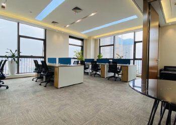 龙岗3号线永湖地铁站200米带全套家精装修写字楼236平出租图片2