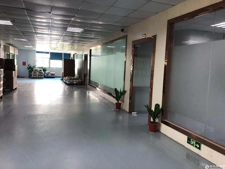 坪山大工业区原房东红本产业园2楼2000平方厂房招租可分租.