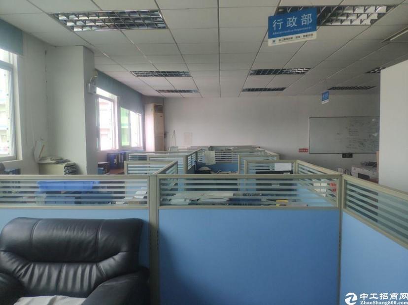 坪山石井工业区新出楼上精装修厂房1460平出租,合同4年.