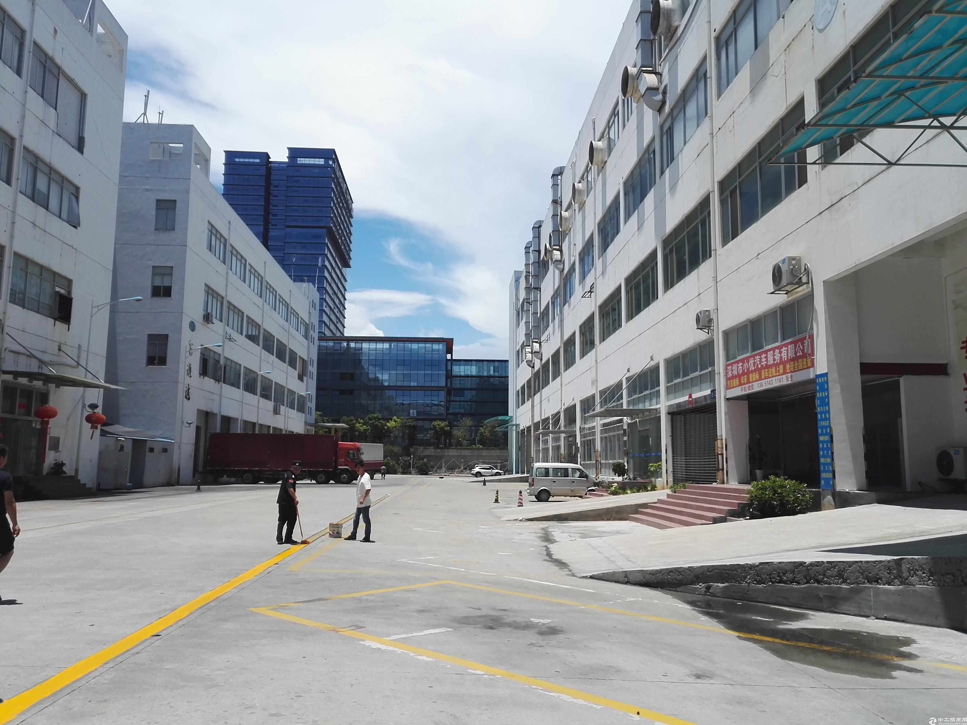 坪山高铁站附近1楼500平米红本工业厂房出租,空地大