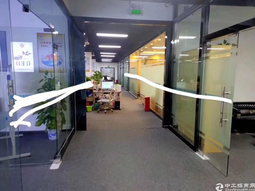 深圳主干道边出楼上精装修1300平办公厂房出租价格优惠水电齐