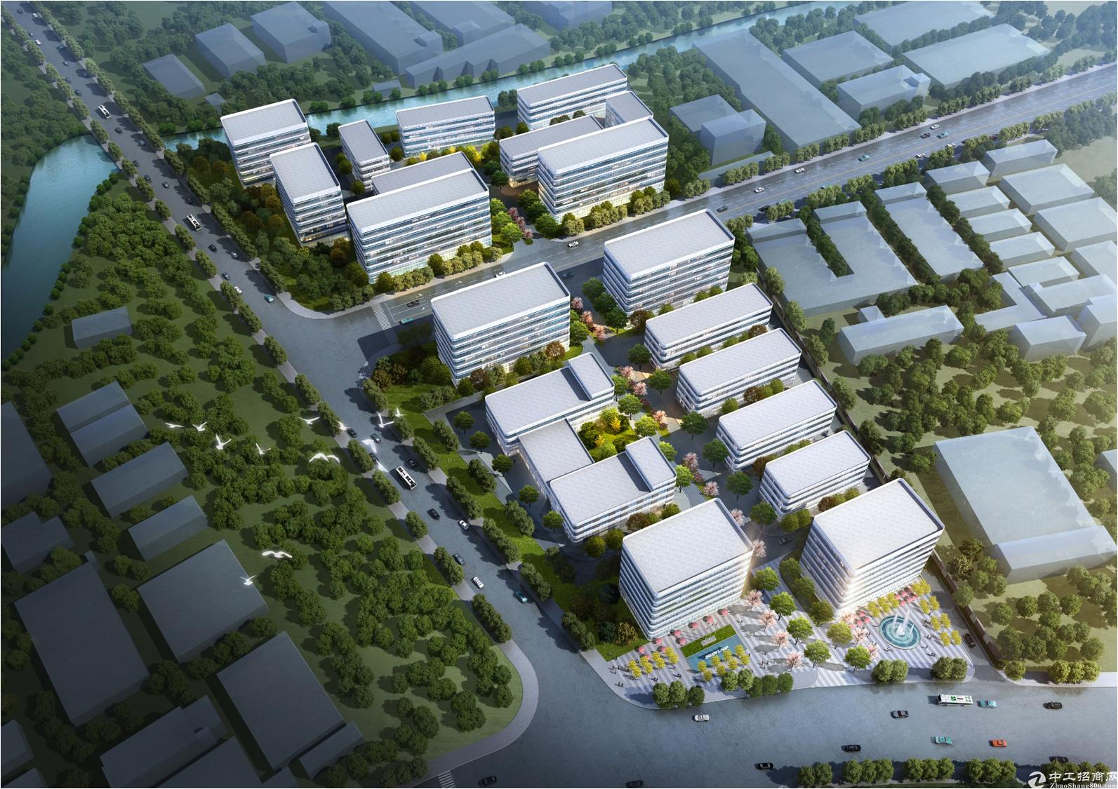 新建厂房环境好大气,1500平50年产权-图3