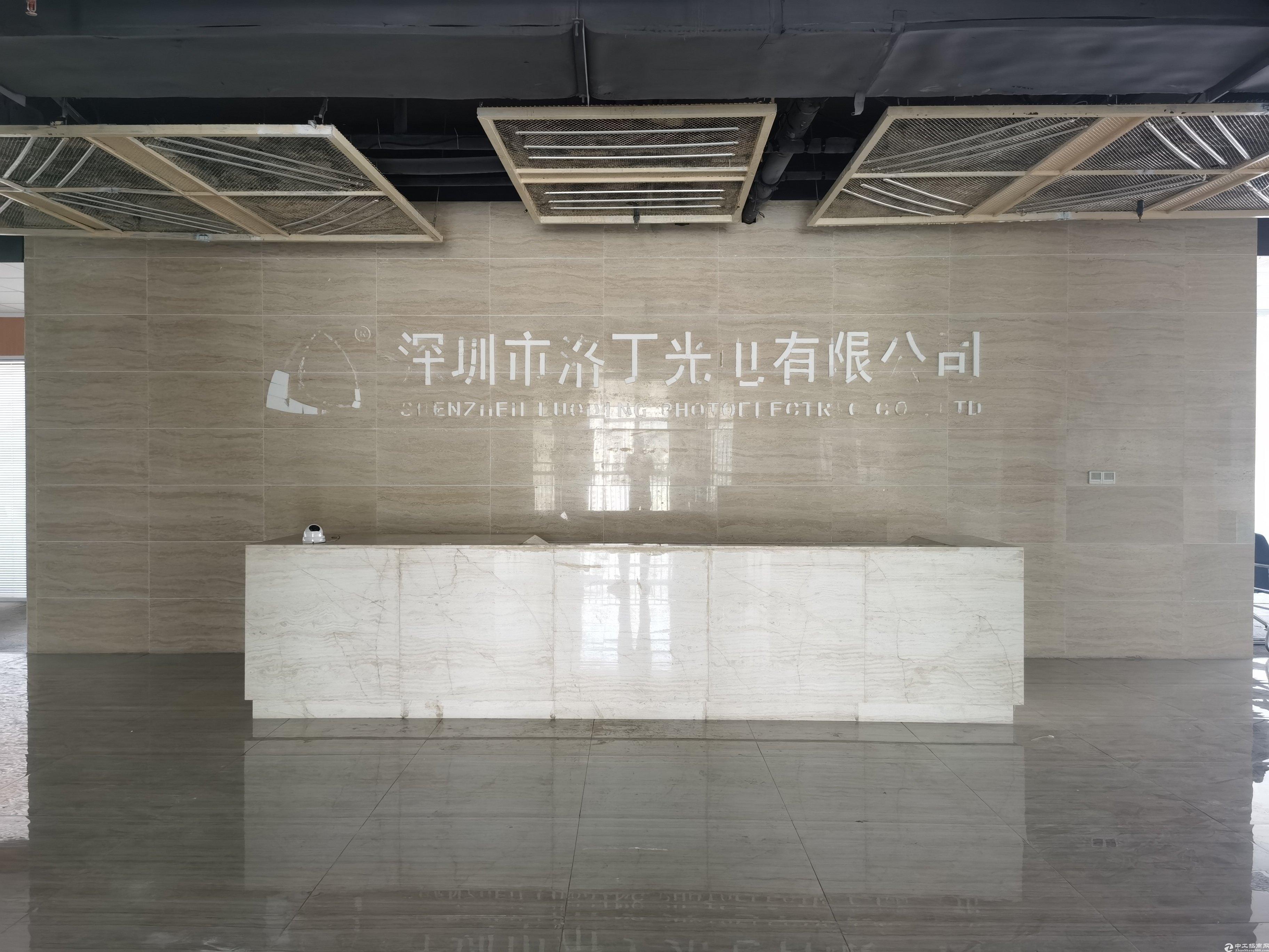 深圳北站附近新出楼上带精装修厂房仓库出租1500平无转让费