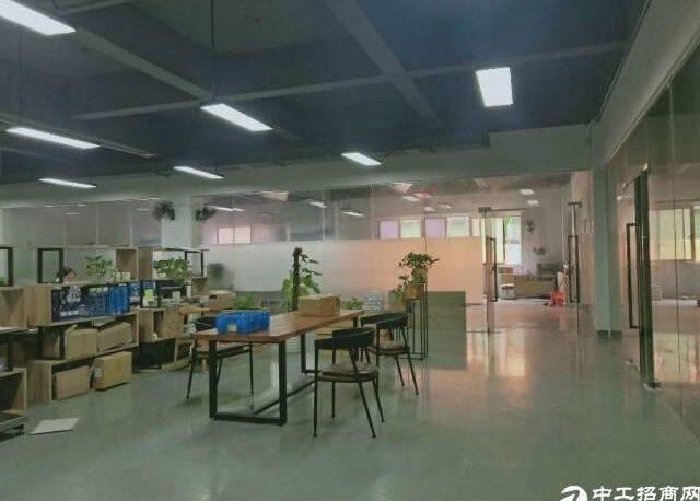 观澜桂花梅观高速出口新出楼上整层600平带精装修厂房出租