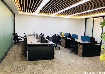 深圳北站地铁口原房东红本写字楼336平55元豪华装修图片3