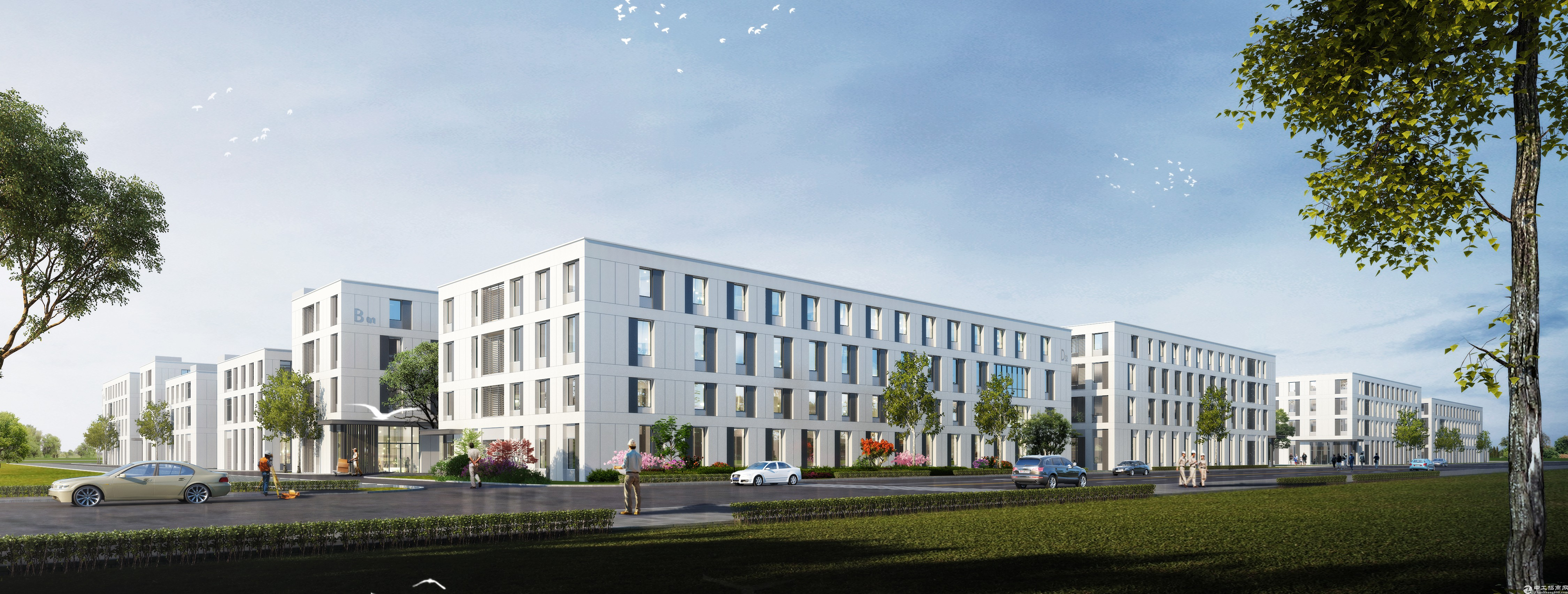 邹区新建国土独栋厂房,1152-6000m²户型齐全,可贷款