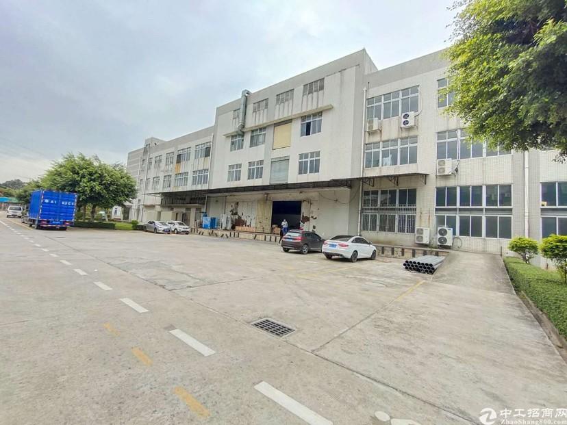 黄埔区花园式标准厂房1-3层24000出租,证件齐空地大