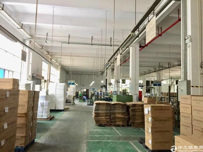 布吉秀峰工业区新出一楼标准厂房出租高5米1600平仓库物流
